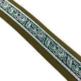 Handmade Irish Celtic Beast Hemp Banjo Strap by VTAR, Vegan Materials Green Hemp - 1to1 Music