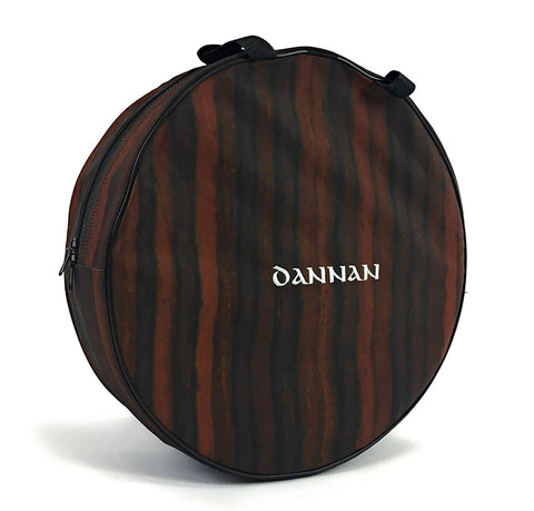 "Deluxe Dannan 16"" Celtic Bodhran Bag Brown Wooden Case Cover - 1to1 Music"