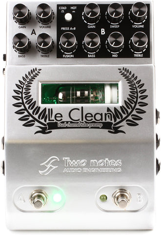 Two Notes Le Clean Preamp Pedal - 1to1 Music