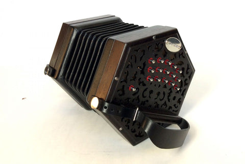 Garvey The Clare Irish Traditional Button Concertina Accordion - Professional Quality - Made to Order