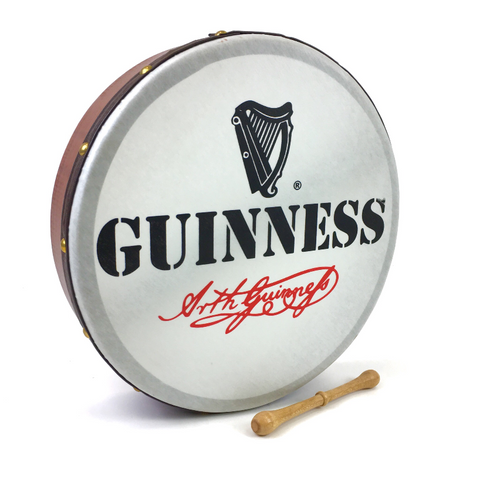 "Handmade by Dannan Irish Celtic Vegan 16"" Bodhran Hand Drum (Guinness) - 1to1 Music"