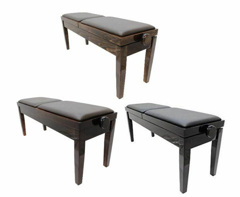 DUET - Piano Stool (Seats Adjust Separately with Vinyl Top) - 1to1 Music