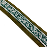 Handmade Irish Celtic Hemp Guitar Strap by VTAR, Vegan Bass, Acoustic, Electric - 1to1 Music