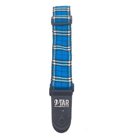 Vtar Tartan Plaid Design Acoustic Electric Guitar Strap with Adjustable Length - 1to1 Music