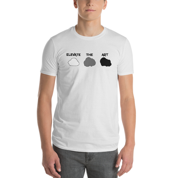 Cloud Art Tee for Men - White