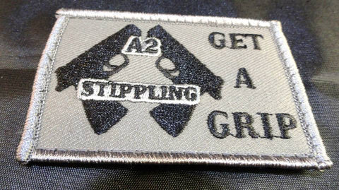 A2 Stippling Get A Grip Grey Patch