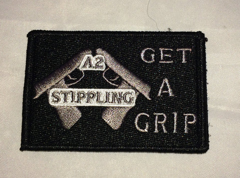 A2 Stippling Get A Grip Black Patch