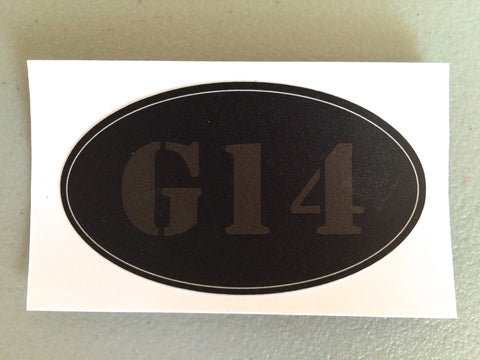 G14 250 Oval Sticker