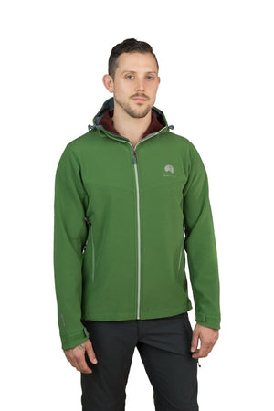 Misti - Mens Water Resistant, Wind Resistant Hooded Soft shell Jacket - Green