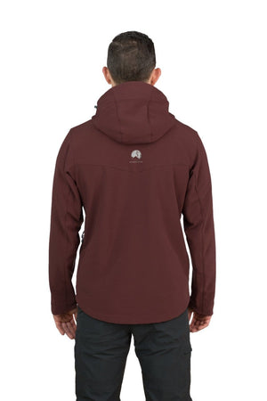 Misti - Mens Water Resistant, Wind Resistant Hooded Soft shell Jacket - Chocolate Brown