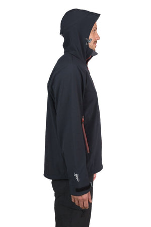 Qaras - Mens Waterproof, Windproof, Hooded Soft Shell Jacket