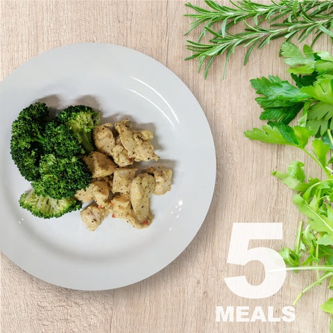 5 Meals Per Week With Protein & Vegetables | 5 day Plan |