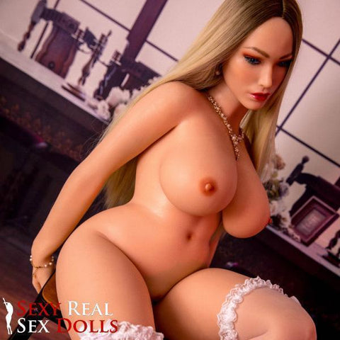 blonde silicone sex doll