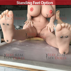 155cm realistic sex doll standing feet option