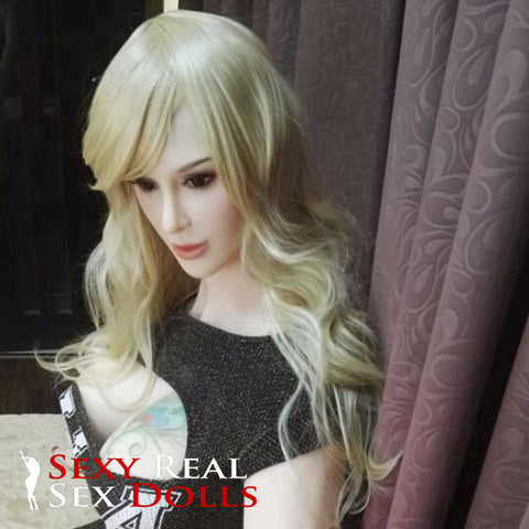 silicone love doll with old woman look