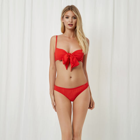 Alyssa Bra and Brief Set Red