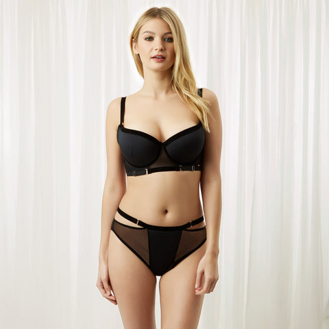 Bluebella lingerie body type athletic slim curvy curvaceous flattering lace bra push up full high-waist brief aw18 new collection cerium julienne bailey carmen orion