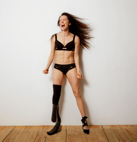 Gender pay gap and inequality - reversal in the fashion and modelling world with women the highest earners - Stef Reid in Bluebella Angelina Bra and Brief