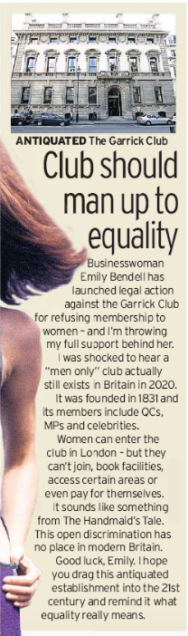 Female lingerie tycoon 39 launches legal fight force Garrick Club admit women