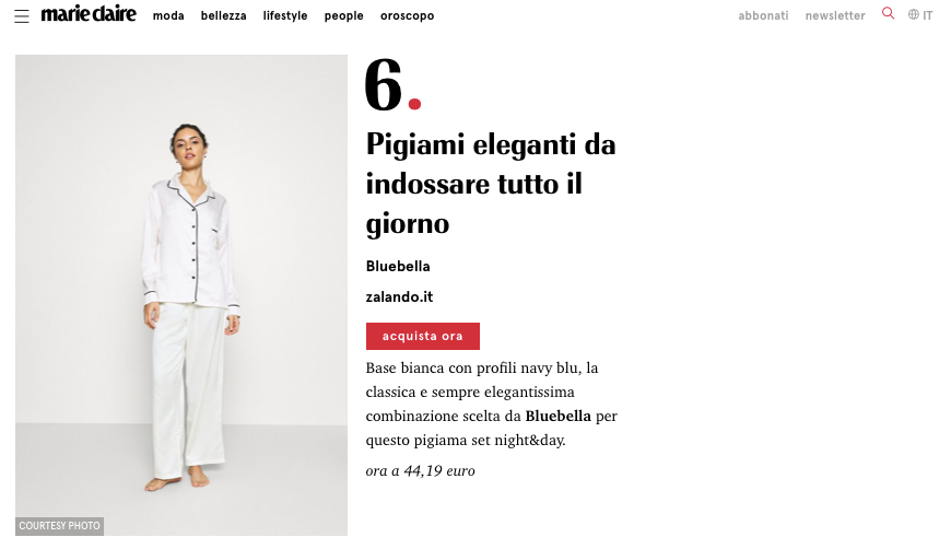 Claudia Ivory on Marie Claire Italy