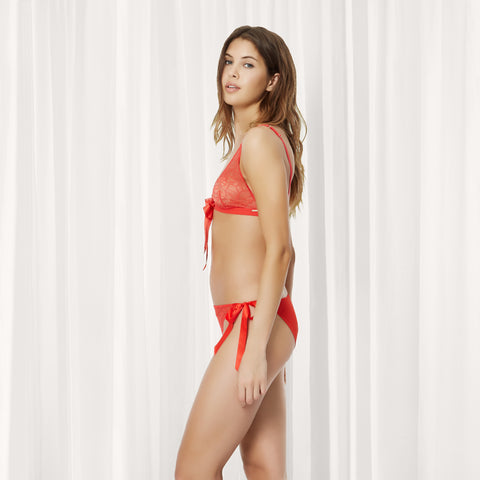 Refinery 29 - Tabitha bra and brief set red