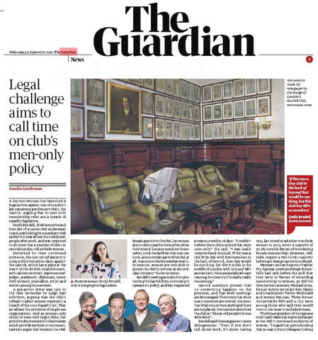 Businesswoman launches legal action against the garrick club