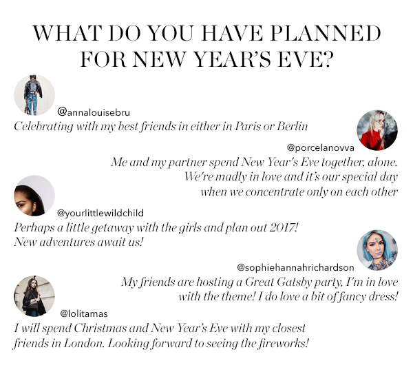 WHAT DO YOU HAVE PLANNED FOR NEW YEAR'S EVE?