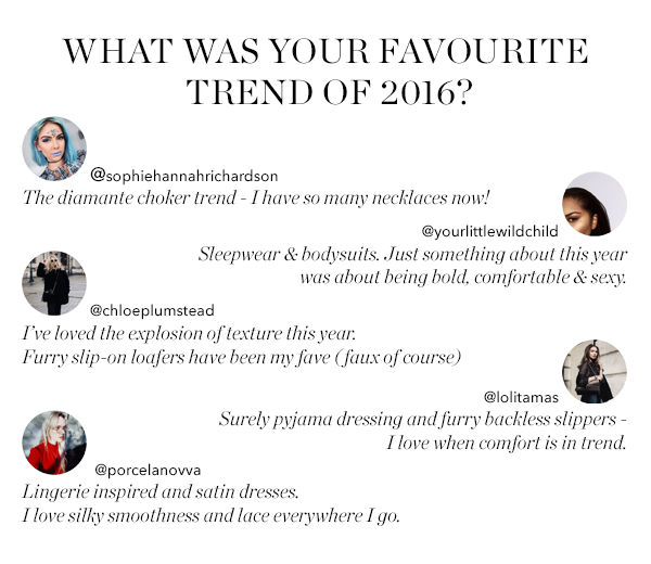 WHAT WAS YOUR FAVOURITE TREND OF 2016?