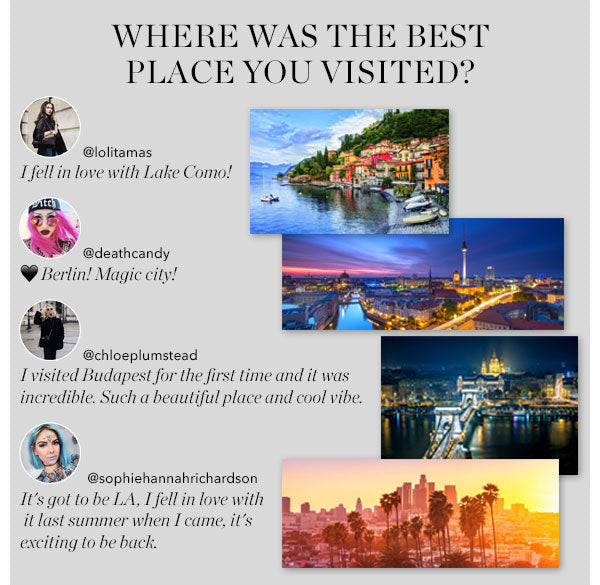 WHERE WAS THE BEST PLACE YOU VISITED?