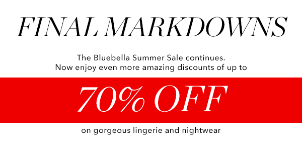 The Summer Sale - now up to 70% off