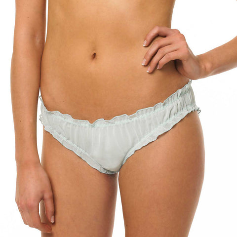 Skylar Ruffle Brief Pale Blue