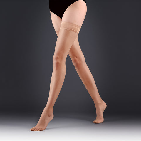 Hold Ups Plain Leg/Plain Top Champagne