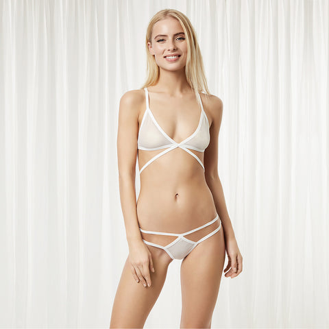 Reese Bra and Brief Set - White