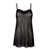 Georgia Short Chemise Black
