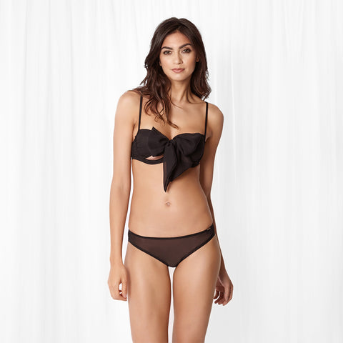 Alyssa Bra and Brief Set Black