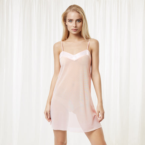 Georgia Short Chemise - Pale Pink