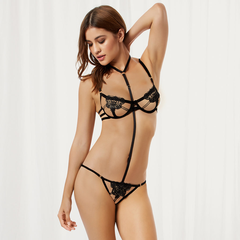 Pandora Harness Brief Black