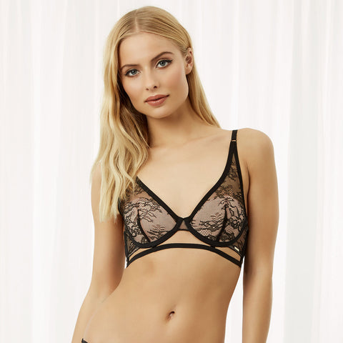 Luisa High-Apex Bra Black