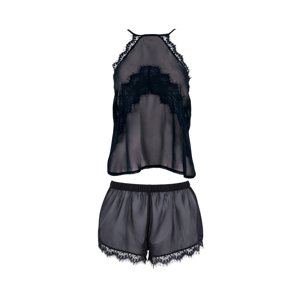 Penelope Cami and Short Set Black