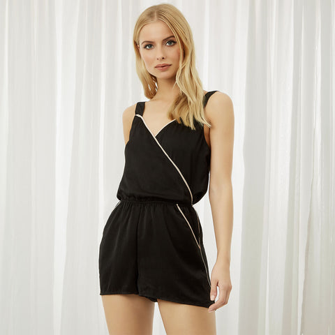 Kara Short Playsuit Black