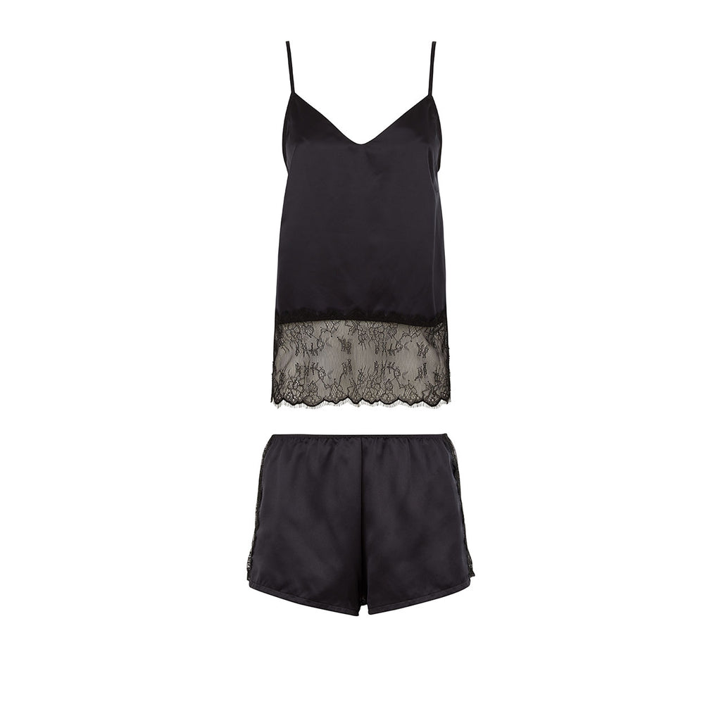 Elva Cami and Short Set Black