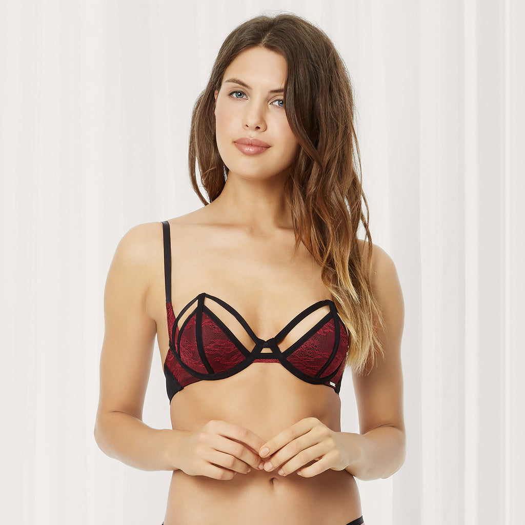 Luisa Wired Bra Cordovan