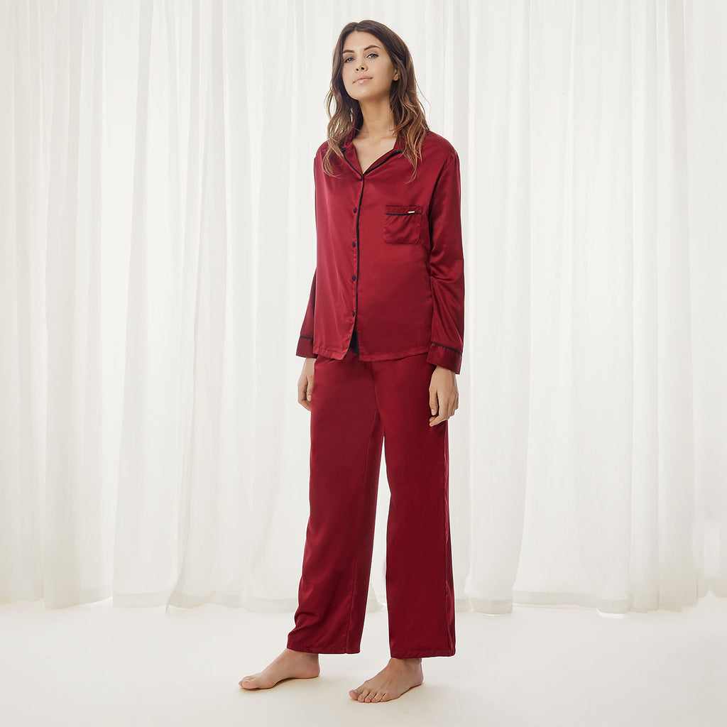Claudia Shirt and Trouser Cordovan
