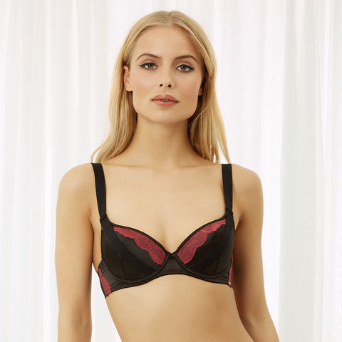 Saffy Wired Bra Cordovan