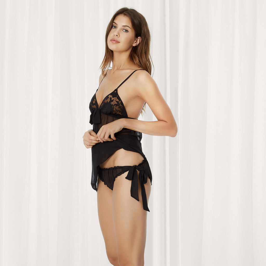 Zuri Chemise and Tieside Knicker Set