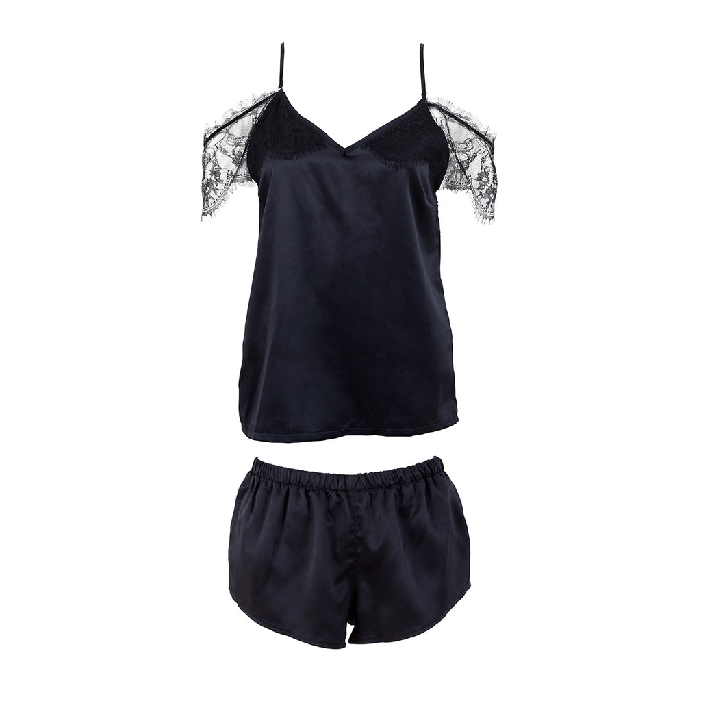 Clemzette Top & Short Black