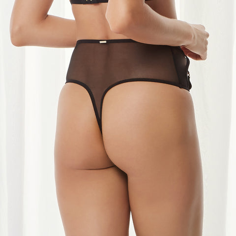Jude High-waist Thong Black