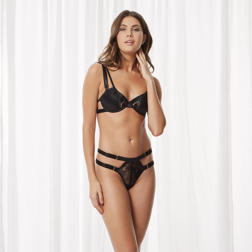 Purley Thong Black