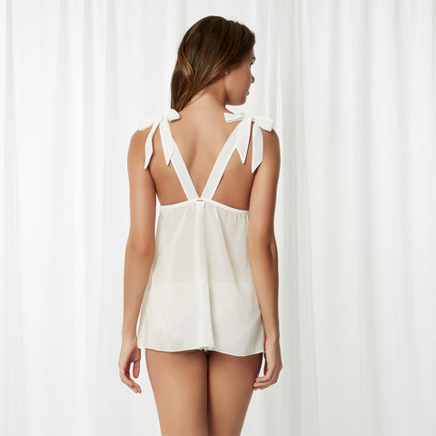Sofia Chemise & Brief Set Ivory