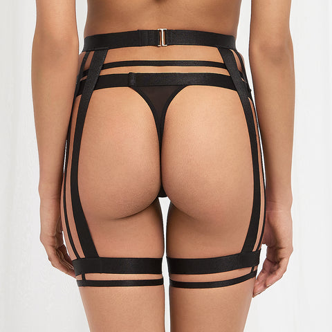 Bree Thigh Harness Black